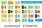 vector english alphabet for... | Shutterstock .eps vector #572666707