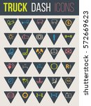 colorful icon set of thirty for ... | Shutterstock .eps vector #572669623
