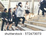 business people walking in the ... | Shutterstock . vector #572673073