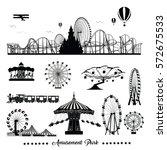 vector illustration set.roller... | Shutterstock .eps vector #572675533