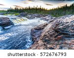 Small photo of Forest river rapids landscape