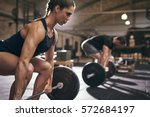 fit people preparing to... | Shutterstock . vector #572684197