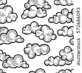 cloud pattern. cloudy sky... | Shutterstock .eps vector #572686093