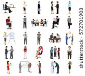 office people flat icon set | Shutterstock .eps vector #572701903