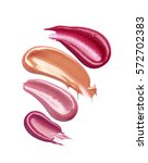 collection of smudged lipsticks ...   Shutterstock . vector #572702383