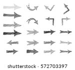 arrow set. doodle sign cursor... | Shutterstock .eps vector #572703397