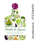 vegetables banner in shape of... | Shutterstock .eps vector #572706493