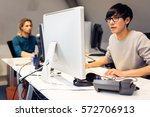 tech start up founders working | Shutterstock . vector #572706913