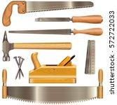 vector carpentry tools | Shutterstock .eps vector #572722033