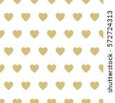seamless  pattern hearts.... | Shutterstock . vector #572724313