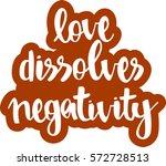 text   ''love dissolves... | Shutterstock .eps vector #572728513