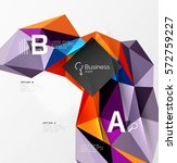 colorful triangle mosaic 3d... | Shutterstock .eps vector #572759227