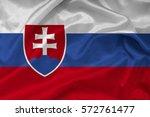 flag of slovakia   Shutterstock . vector #572761477