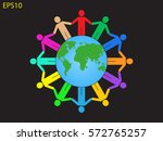 globe  people  icon vector... | Shutterstock .eps vector #572765257
