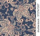 damask paisley seamless vector...   Shutterstock .eps vector #572767207