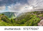 beautiful landscape with green... | Shutterstock . vector #572770267