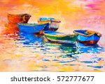 original oil painting on canvas.... | Shutterstock . vector #572777677