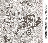 cartoon cute doodles hand drawn ... | Shutterstock .eps vector #572780917