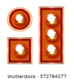 marquee lights vector... | Shutterstock .eps vector #572784277