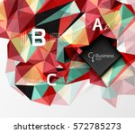 polygonal triangle abstract... | Shutterstock .eps vector #572785273