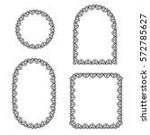 vector illustration. set frames.... | Shutterstock .eps vector #572785627