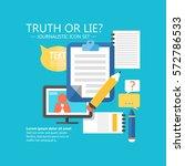 journalistic infographic design ... | Shutterstock .eps vector #572786533