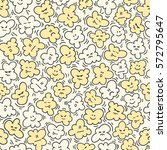 funny popcorn seamless pattern | Shutterstock .eps vector #572795647