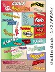vector comic book sound effects ... | Shutterstock .eps vector #572799247
