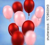 happy valentine's day... | Shutterstock .eps vector #572802043