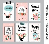 Spring Card Collection   Hand...