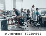 creative business team.  group... | Shutterstock . vector #572804983
