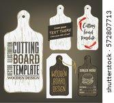 wood cutting board template... | Shutterstock .eps vector #572807713