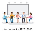 group of working people ... | Shutterstock .eps vector #572813203