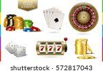 casino golden icon isolated on... | Shutterstock .eps vector #572817043