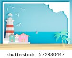 Lighthouse With Ocean...