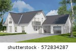 new white single family home... | Shutterstock . vector #572834287