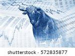financial symbols and bull...   Shutterstock . vector #572835877