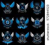 collection of vector heraldic...   Shutterstock .eps vector #572844523