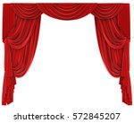 Red Curtains Isolated. 3d...