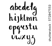 hand drawn calligraphic font | Shutterstock .eps vector #572847553