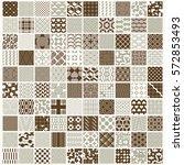 graphic ornamental tiles... | Shutterstock .eps vector #572853493