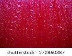 Rain On The Hood Red Cars