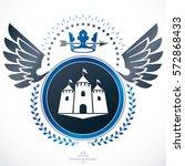 heraldic emblem isolated vector ... | Shutterstock .eps vector #572868433
