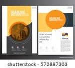 abstract vector modern flyers...   Shutterstock .eps vector #572887303