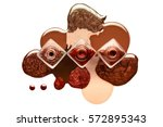 fine art beauty concept of... | Shutterstock . vector #572895343