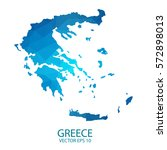 greece map   blue geometric... | Shutterstock .eps vector #572898013