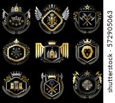 set of vector vintage emblems... | Shutterstock .eps vector #572905063