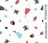 modern floral pattern. | Shutterstock .eps vector #572905753