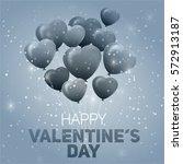 valentines day flyer. vector...   Shutterstock .eps vector #572913187