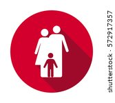 family flat icon | Shutterstock .eps vector #572917357